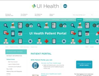 myuihealth.iqhealth.com screenshot
