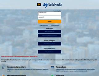 myuofmhealth.org screenshot