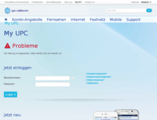 myupcext.upc-cablecom.ch screenshot