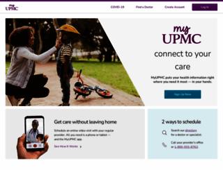 myupmc.com screenshot