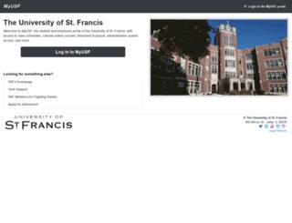 myusf.stfrancis.edu screenshot