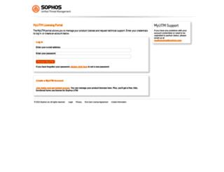 myutm.sophos.com screenshot