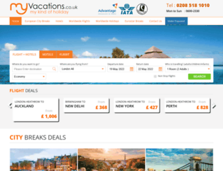 myvacations.co.uk screenshot