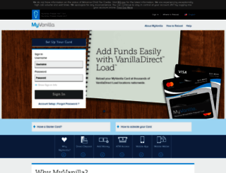 myvanillacard.com screenshot