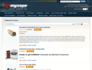 myvape.in screenshot