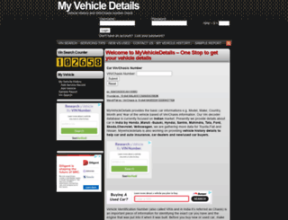 myvehicledetails.com screenshot