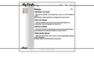 myverbs.free.fr screenshot