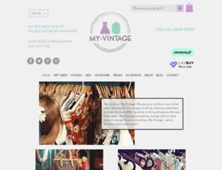 myvintage.co.uk screenshot