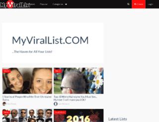myvirallist.com screenshot