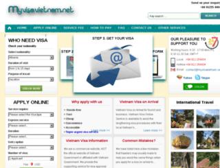 myvisavietnam.net screenshot