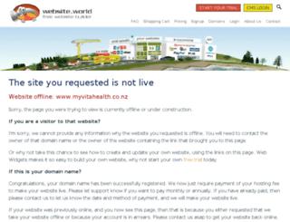 myvitahealth.co.nz screenshot