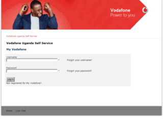 myvodafone.vodafone.co.ug screenshot