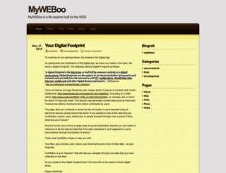 myweboo.wordpress.com screenshot