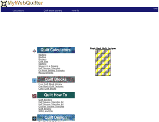mywebquilter.com screenshot