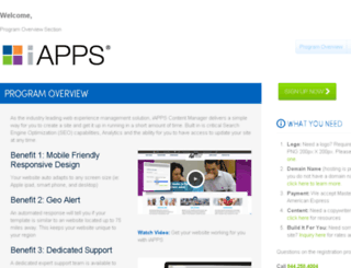 mywebsite.iapps.com screenshot