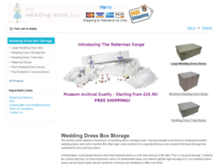 myweddingdressbox.co.uk screenshot