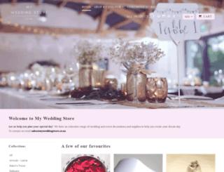 myweddingstore.co.nz screenshot