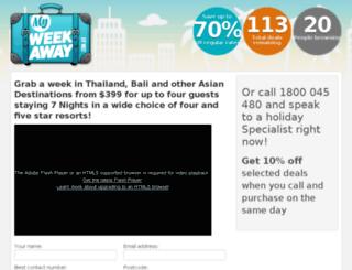 myweekaway.com.au screenshot
