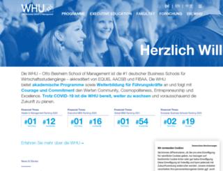 mywhu.de screenshot