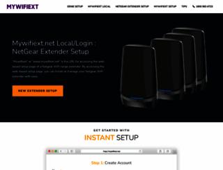 mywifiexthelp.net screenshot