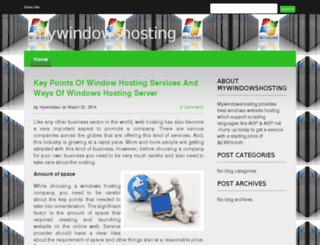 mywindowshosting.devhub.com screenshot