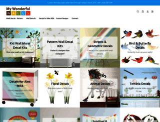 mywonderfulwalls.com screenshot