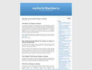 myworldblackberry.com screenshot