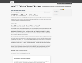 mywotlies.wordpress.com screenshot