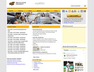 mywsu.wichita.edu screenshot