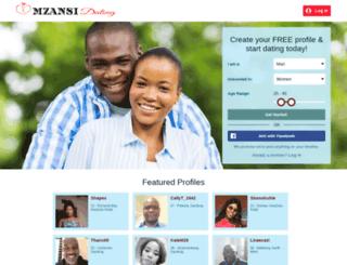 mzansidating.co.za screenshot