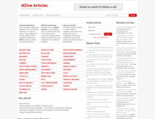 mzine.co.uk screenshot