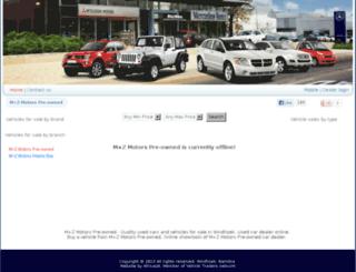 mzmotors.com.na screenshot