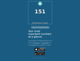 n.numerousapp.com screenshot