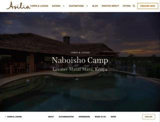 naboisho.asiliaafrica.com screenshot