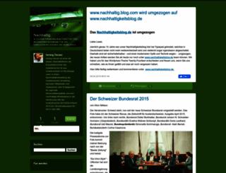 nachhaltigkeit.blogs.com screenshot