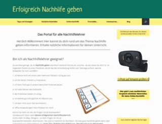 nachhilfe-geben.com screenshot