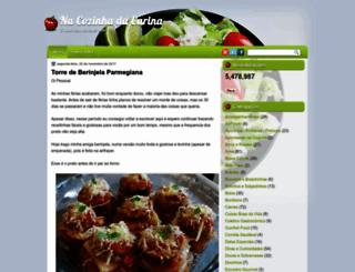 nacozinhadacarina.blogspot.com.br screenshot