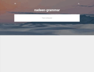 nadeen-grammar.blogspot.com screenshot