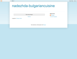 nadezhda-bulgariancuisine.blogspot.com screenshot