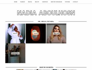 nadiaaboulhosn.com screenshot