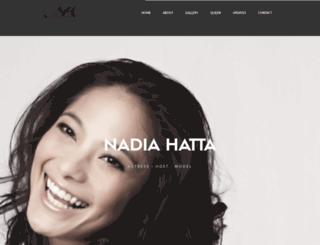 nadiahatta.com screenshot