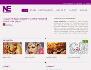 nadiyaenterprises.com screenshot