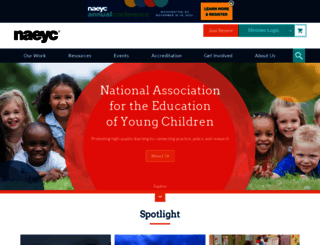naeyc.org screenshot