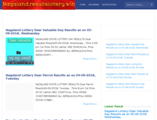 nagaland.resultslottery.win screenshot