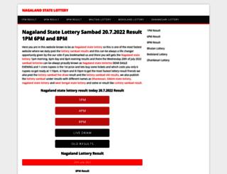 nagalandstatelottery.in screenshot