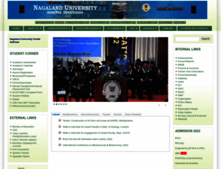 nagalanduniversity.ac.in screenshot