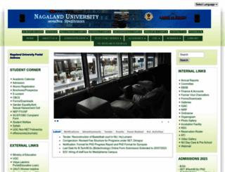 nagalanduniversity.ac.in screenshot