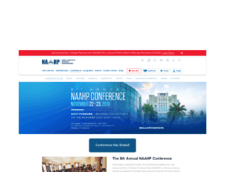 nahpconference.org screenshot