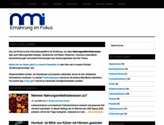 nahrungsmittel-intoleranz.com screenshot