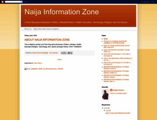 naijainformationzone.blogspot.com screenshot